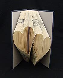 Two Hearts : Folded Book Art Sculpture
