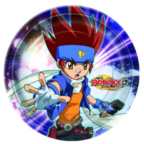 [Beyblade Dessert Plates Party Accessory] (Beyblade Halloween Costumes)