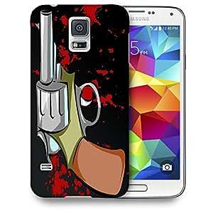 Snoogg Pistol Black Designer Protective Back Case Cover For SAMSUNG GALAXY S5 MINI