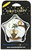 Nightlights : Elephant & Owl : Size 9 x 9 x 4.5cm : Battery-operated Night Lights : Handcrafted Wooden Designs Mounted on a Plastic Unit : A Popular Gift for Children