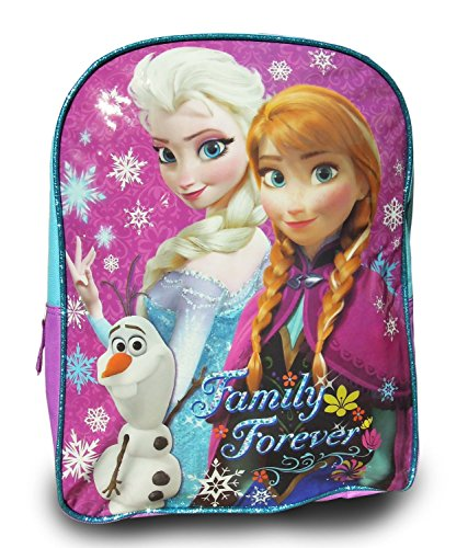 "Disney Frozen Princess Elsa Sparkle Backpack, Large 15"" School Bag, New Licensed Design"