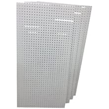 Triton Products DB-4 Four DuraBoard White Polypropylene Pegboards 24-Inch W by 48-Inch H by 1/4-Inch D with 9/32-Inch Hole Size and 1-Inch O,C, Hole Spacing