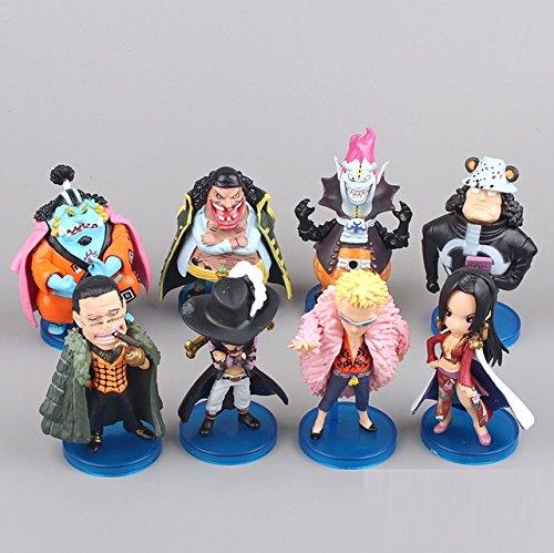 8x-One-Piece-Boa-Hankokku-Kuma-Doflamingo-Mihawk-Teach-Jinbe-PVC-Action-Figure-Animal-Model-Toy