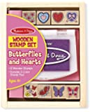 Melissa & Doug Butterfly & Heart Stamp Set