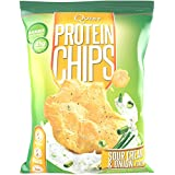 Quest Nutrition Protein Chips, Sour Cream & Onion, 21g Protein, Baked, 1.2oz Bag, 8 Count
