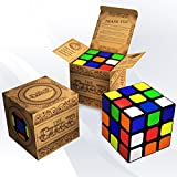 Speed Cube: 3x3 Turns Quicker, Easier and More Precisely Than Original; Super-durable with Stay-on Stickers and Vivid Colors; Best-selling Puzzle; 100% Money Back Guarantee!