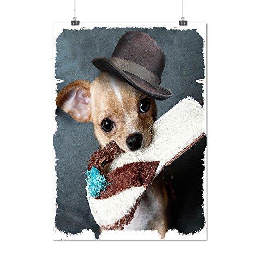 Cucciolo pantofola andare a prendere cagnetto Opaco/Lucida Poster A3 (42cm x 30cm) | Wellcoda