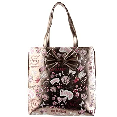 Ed Hardy Girls Anya Tote Bag - Silver