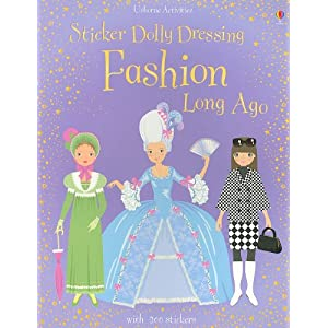 Sticker Dolly Dressing Fashion Long Ago [With 200 Stickers] (Usborne Activities)