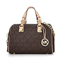 Michael Kors Mediam Brown PVC Satchel