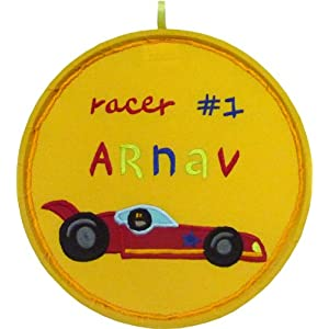 Racer # 1 Name Plaque - Yellow