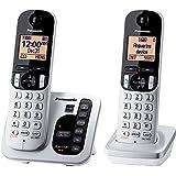 Panasonic DECT 6.0 2-Handset 1-Line Landline Telephone (KXTGC222S)