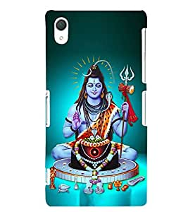 Lord Shiva 3D Hard Polycarbonate Designer Back Case Cover for Sony Xperia Z2 :: Sony Xperia Z2 L50W D6502 D6503