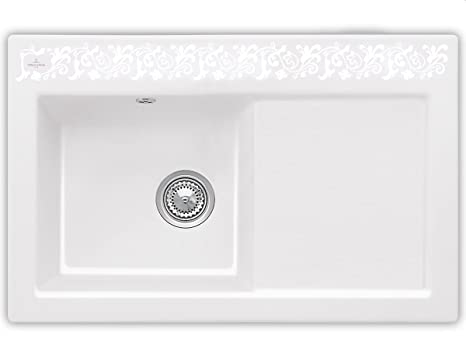 Villeroy Boch Subway 45 &White Pearl White Ceramic Inset Mounting Kitchen Spule
