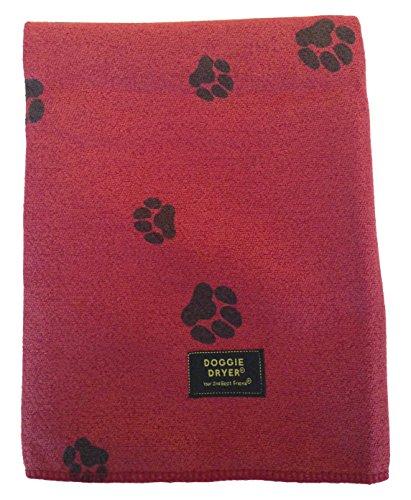 Aquis Doggie Dryer Hundehandtuch, 75x140cm, Rot