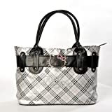 Hello Kitty Scottish Style Plaids Checkered Pattern Tote Shoulder Handbag