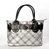 Hello Kitty Scottish Style Plaids Checkered Pattern Tote Shoulder Handbag