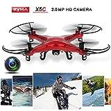 Syma X5C RC ドローン 2.4GHz 4CH 6軸ジャイロ 2.0MP HD カメラ 空撮 クアッドコプター マルチコプター [並行輸入品]