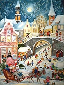 Santa Sleigh Ride German Christmas Advent Calendar from Sellmer Verlag