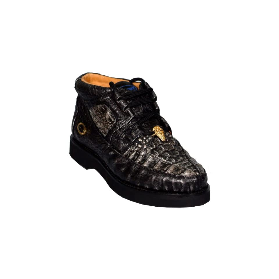 Alligator Leather Mens Ankle High BOOTS Casual Handmade 4906 Shoes