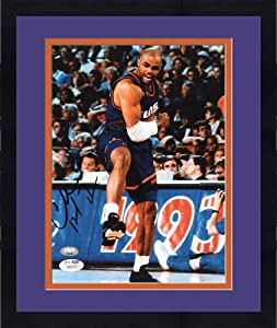 Framed Charles Barkley Signed Phoenix Suns Photo - 8x10 - SM - JSA Certified -... by Sports Memorabilia