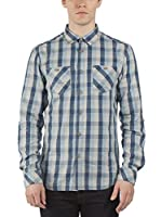 Bench Camisa Hombre Driveskier (Azul / Gris)