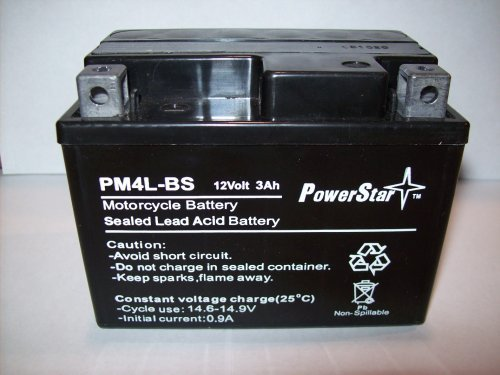 Powerstar--Ytx4L-Bs Lawn Mower Battery For Snapper All Walk Behind Mowers Electric Start