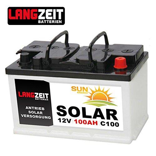 solarbatterie 100ah c100 12v wohnmobil boot wohnwagen camping schiff batterie solar spar baumarkt. Black Bedroom Furniture Sets. Home Design Ideas