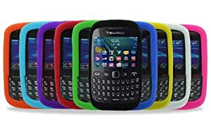Gadget Giant Blackberry Curve 9320 10 Pack Silicone Case Cover Skin Shell - PURPLE RED LIGHT BLUE GREEN DARK BLUE YELLOW BLACK WHITE ORANGE PINK - 10 in 1 Mega Value Pack