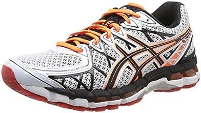Asics Gel Kayano 20 - Zapatillas de running para hombre, color Wht/Onyx/Red, talla 43.5
