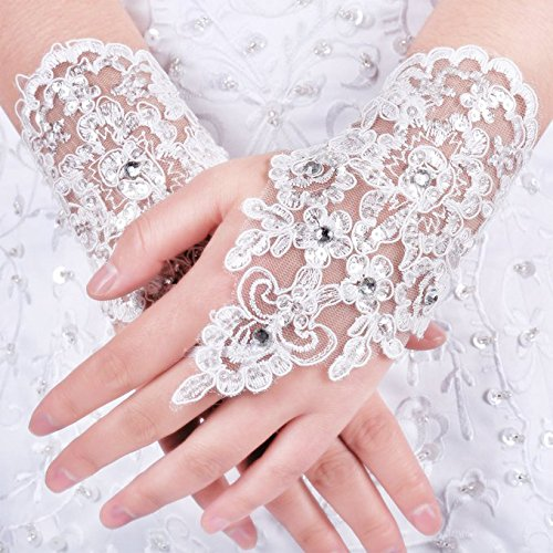 Dress (White Lace Fingerless Gloves)