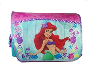 Pink and Turqouise Ariel Messenger Bag - Little Mermaid Laptop Bag