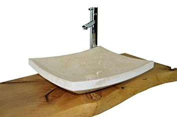 waschbecken aus naturstein granit model dublin egypt cream 45x40cm dc394. Black Bedroom Furniture Sets. Home Design Ideas