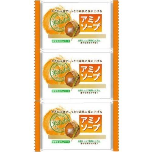 ペリカン アミノソープ 米ぬか 100g×3個