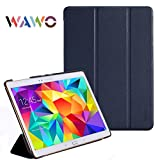 WAWO Creative Smart Tri-fold Cover Case for Samsung Galaxy Tab S 10.5-inch Tablet - Navy Blue