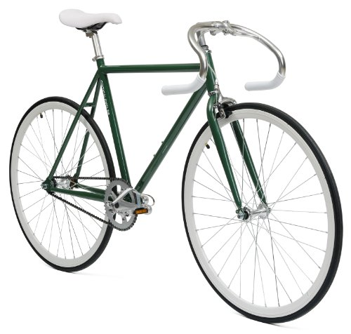 Critical Cycles Classic Fixed Gear Single Speed Urban Road with Pista Drop Bars Bike, Unisex, Critical Cycles Classic Fixed-Gear Single-Speed Urban Road Bike with Pista Drop Bars, Jägergrün, 57 cm/Large