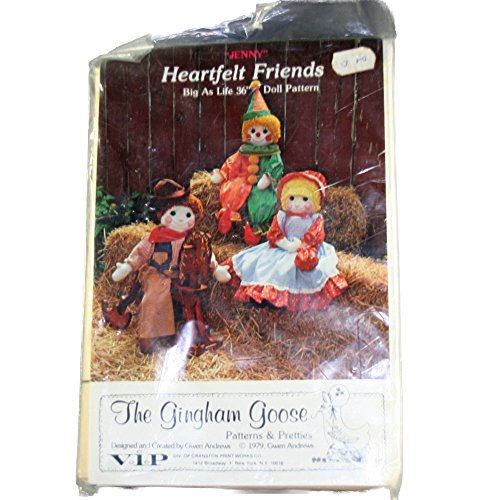 The Gingham Goose Doll Pattern Heartfelt Friends Jenny Country Doll Size One