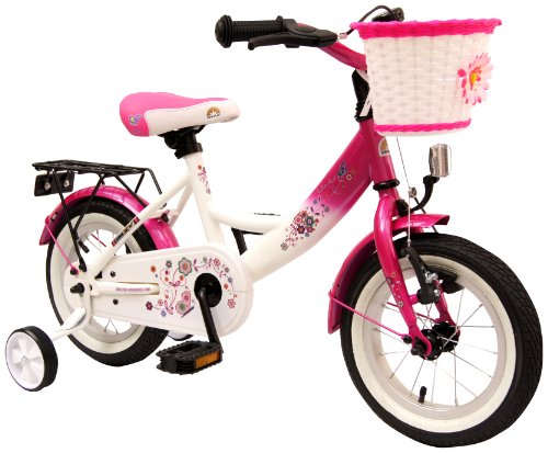 bike*star 30.5cm (12 Inch) Kids Children Girls Bike Bicycle Classic - Colour Pink & White