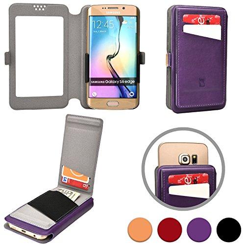 Cooper Cases(TM) Slider Flip Custodia a Portafoglio per Motorola Atrix HD, Electrify 2, Electrify M, Luge in Viola