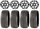 ITP SS312 Black Golf Wheels 14″ 205×30-14 Tires EZ-GO/Club Car (4)