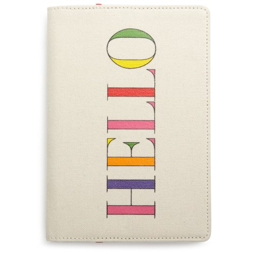 kate spade new york Canvas Kindle Cover (Fits Kindle Keyboard), hello