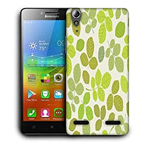Snoogg Colorful Leaves Cream Pattern Printed Protective Phone Back Case Cover For Lenovo A6000