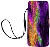 Rikki Knight LLC Rikki Knight Grunge Purple Rainbow Mosaic Flip Wallet Case with Magnetic Flap for Apple Apple iPhone 5 & 5s – Carrying Case – white Reviews