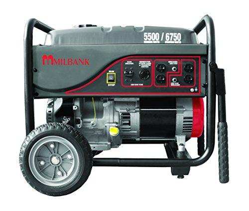 Milbank MPG55003 Portable Generator, 5,500 Watt