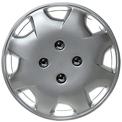 "OxGord Hubcap For Honda Accord 1998-2002 Auto Wheel Cover, Aftermarket Factory Replacement with High Quality ABS Chrome Plastic Fits 15"" Inch Car Tire with 4 Lug Nuts"