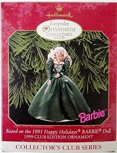 Happy Holidays Barbie 4th in Series 1999 Hallmark Ornament QXC4507