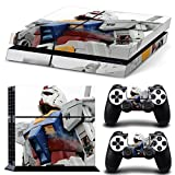 CAN® Ps4 Console Designer Protective Vinyl Skin Decal Cover for Sony Playstation 4 & Remote Dualshock 4 Wireless Controller Stickers - GunDam