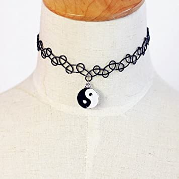 Handmade Fashion Stretch Tattoo Choker Black Magic Necklace