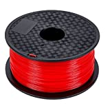 Repko 3D PLA - 1KG 1.75mm Red PLA 3D Printer Filament, Dimensional Accuracy +/- 0.02 mm, 1 kg Spool, 1.75 mm, Red (Color: Red, Tamaño: One Size)
