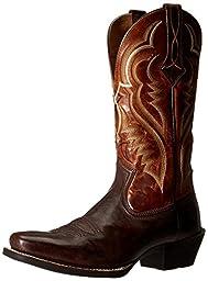 Ariat Men\'s Bronc Buster Western Cowboy Boot, Bitter Brown/Two Tone Tan, 9.5 D US